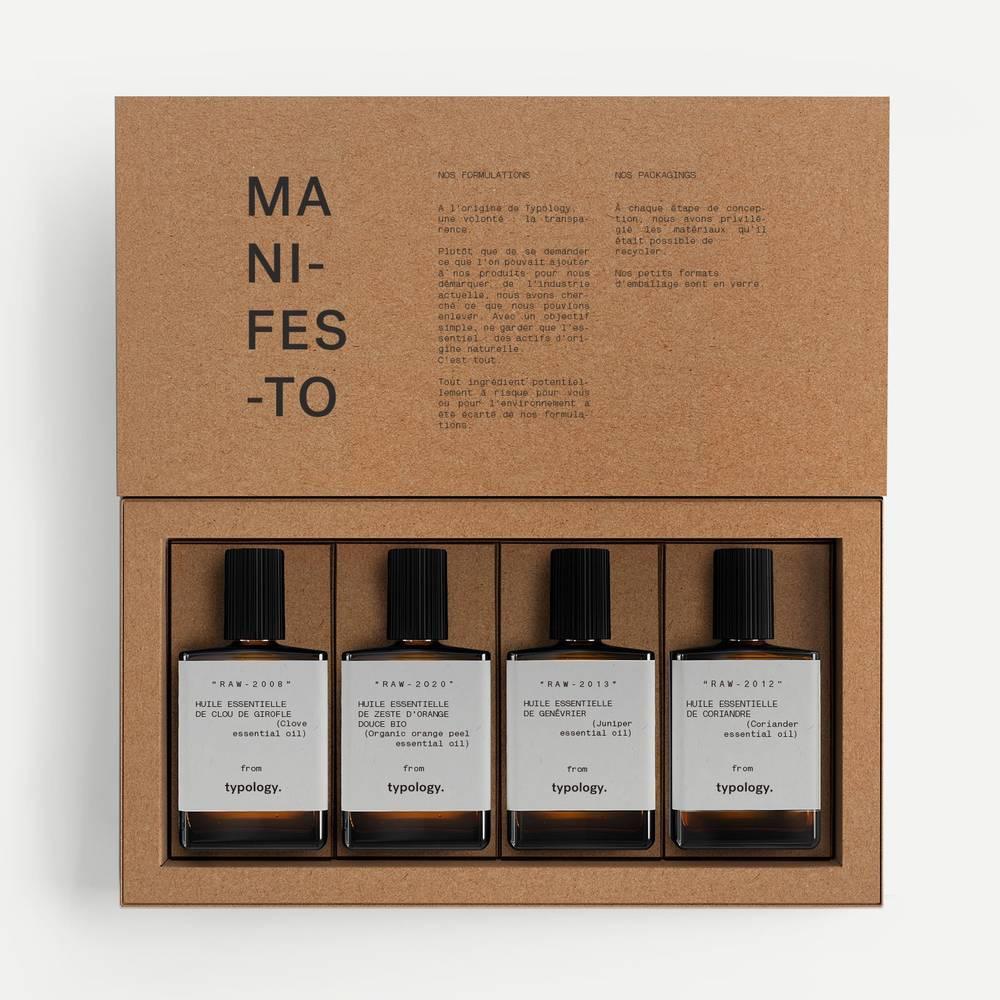 coffret huiles essentiels bio parfums d'hiver ouvert
