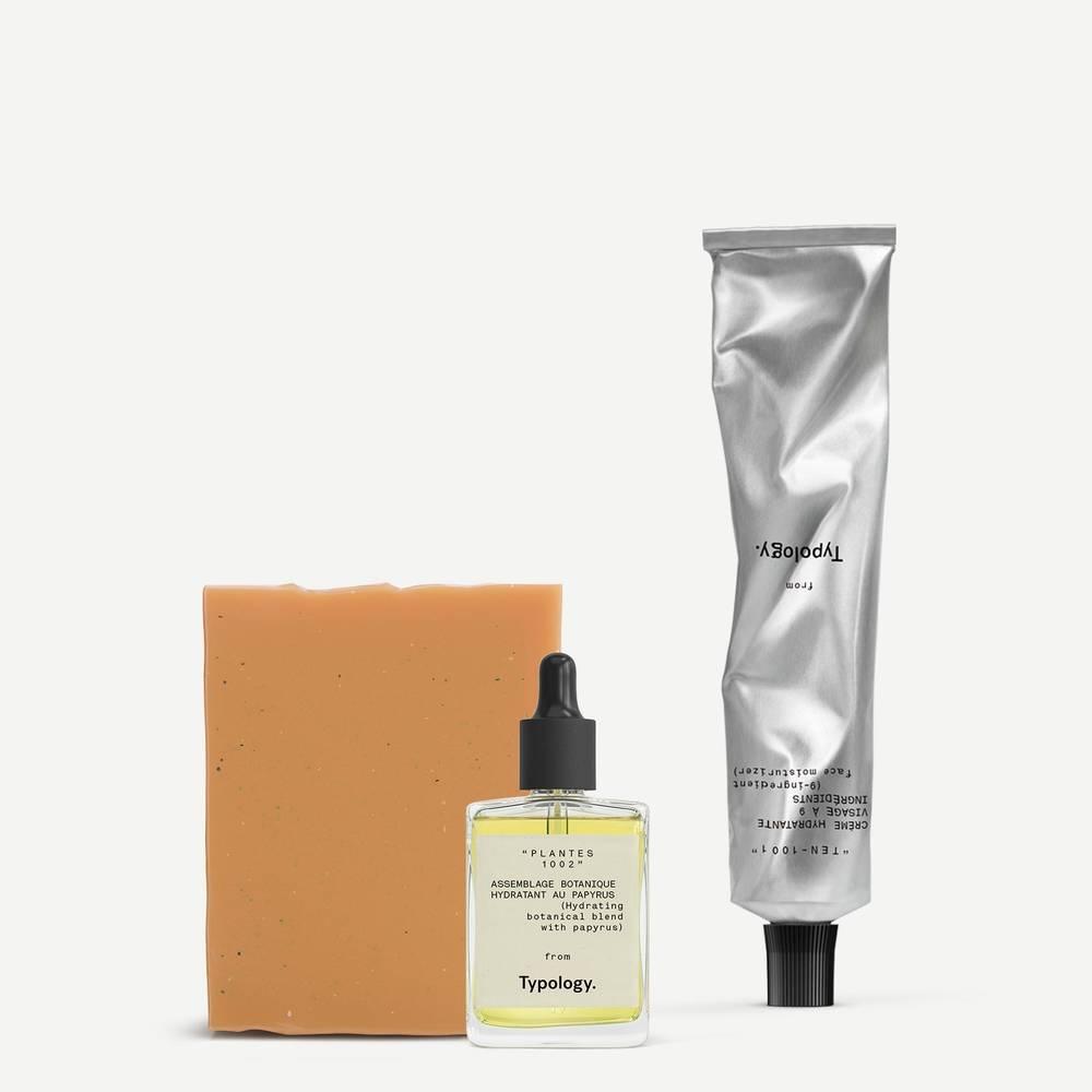 Trio de soins essentiels automne peau hydratée