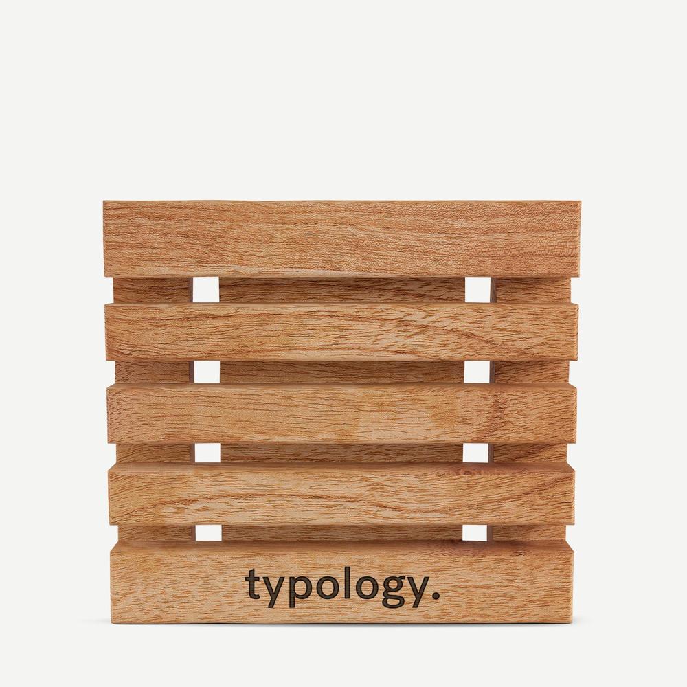 Porte savon en bois de hêtre Typology